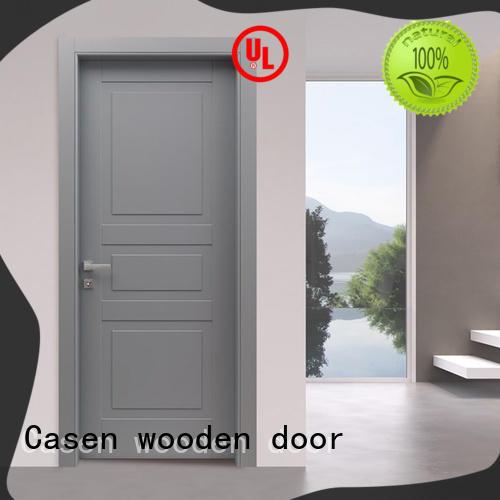 Casen light color 4 panel doors flat for bathroom