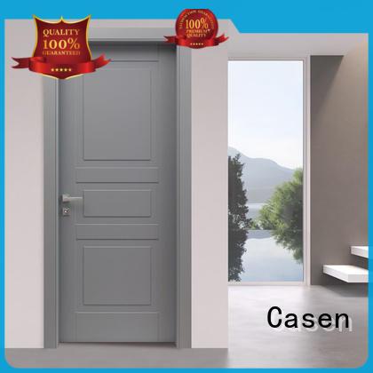 Casen plain modern composite doors wooden for bathroom