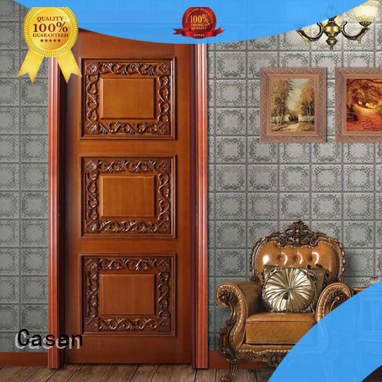 Casen white color style doors carved flowers for living room