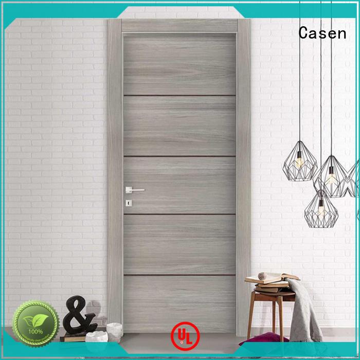 Casen wooden cheap bathroom doors glass aluminium for washroom