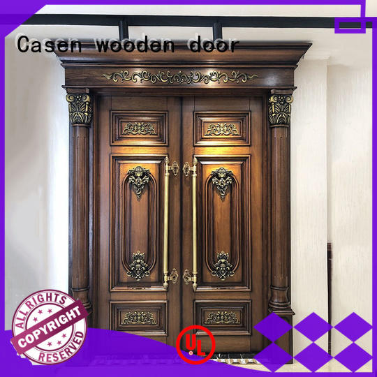 front carved contemporary entry doors Casen manufacture