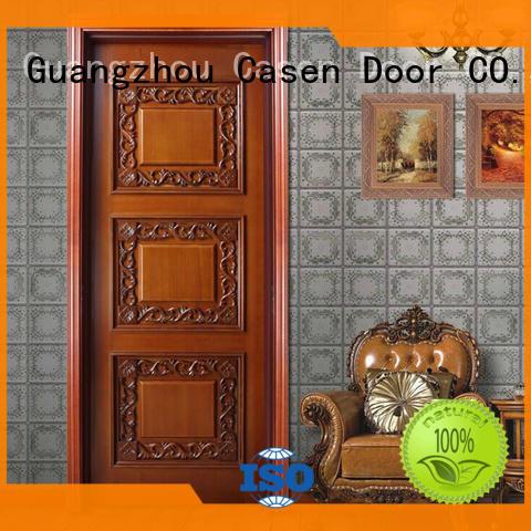 Casen carved flowers luxury wooden doors french design for bathroom