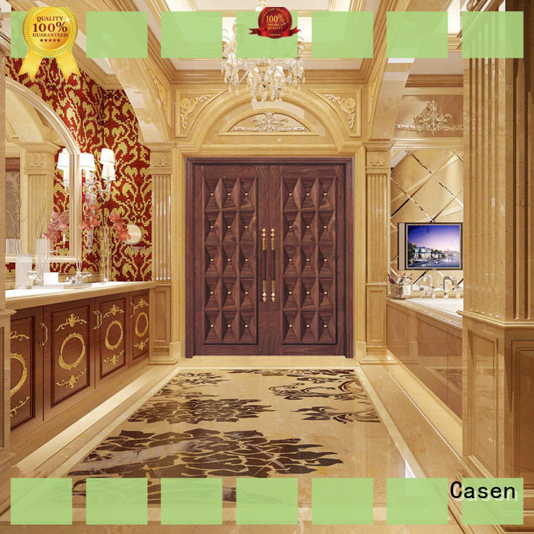 glass wooden french doors archaistic style for store Casen