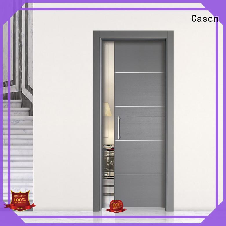Casen classic design half glass interior door glass aluminium