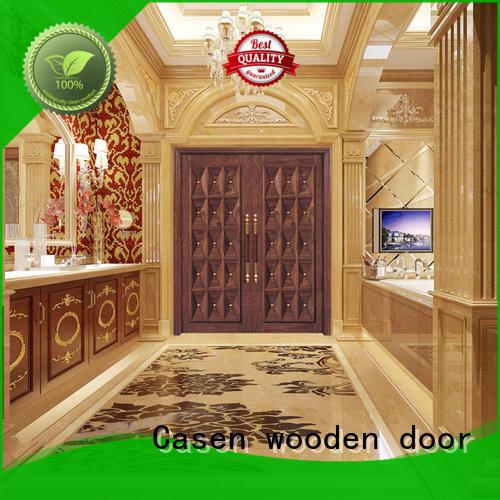 glass exterior wood doors luxury design for villa Casen
