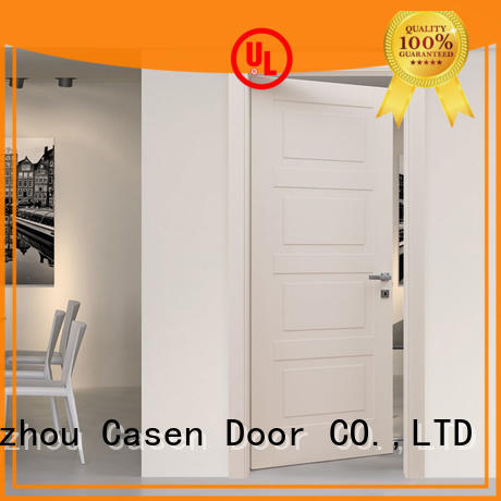 white wood modern composite doors simple style for washroom