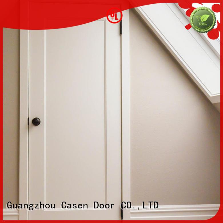 Casen simple design 6 panel mdf interior doors cheapest factory price for washroom