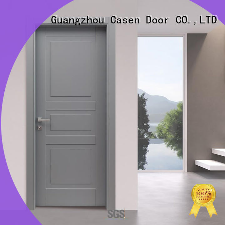 light color interior door thickness wooden simple style for bedroom
