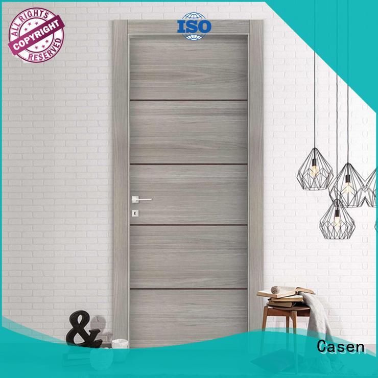 Casen wooden bathroom door glass aluminium for bathroom