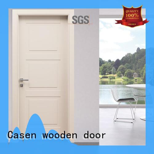 wooden modern composite doors interior for washroom Casen