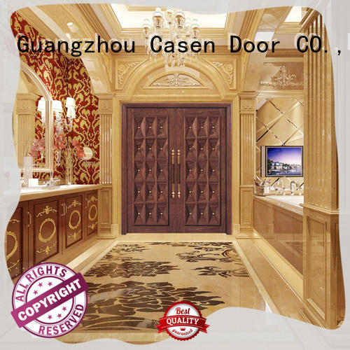 Casen wooden contemporary front doors archaistic style for house