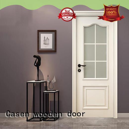 Casen white color wooden door easy for bathroom