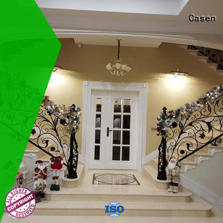 Casen solid wood wooden french doors archaistic style for store
