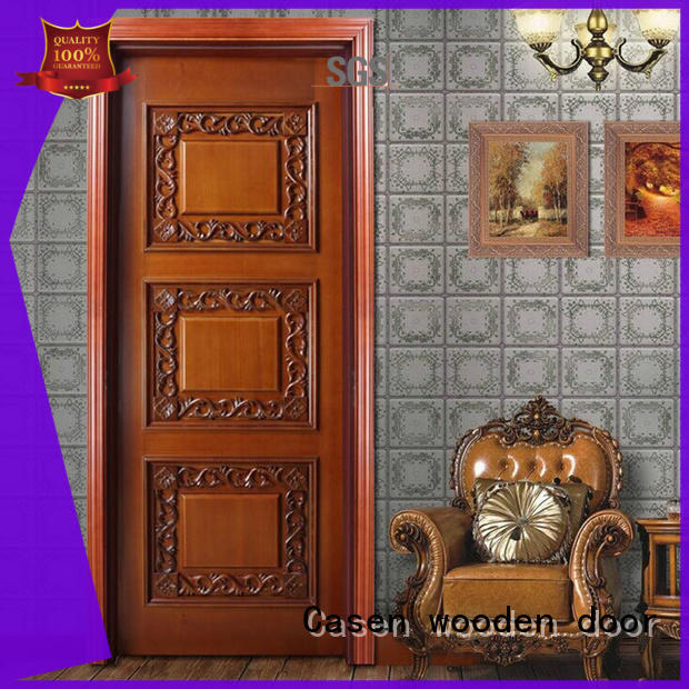 Casen white color luxury wooden doors easy for bathroom