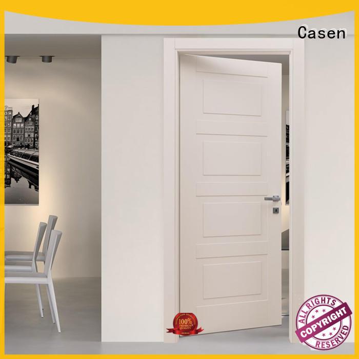 Casen light color black composite door easy for washroom