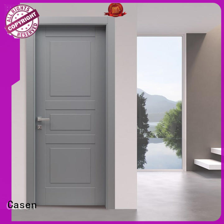 Casen light color composite wood door interior for bathroom