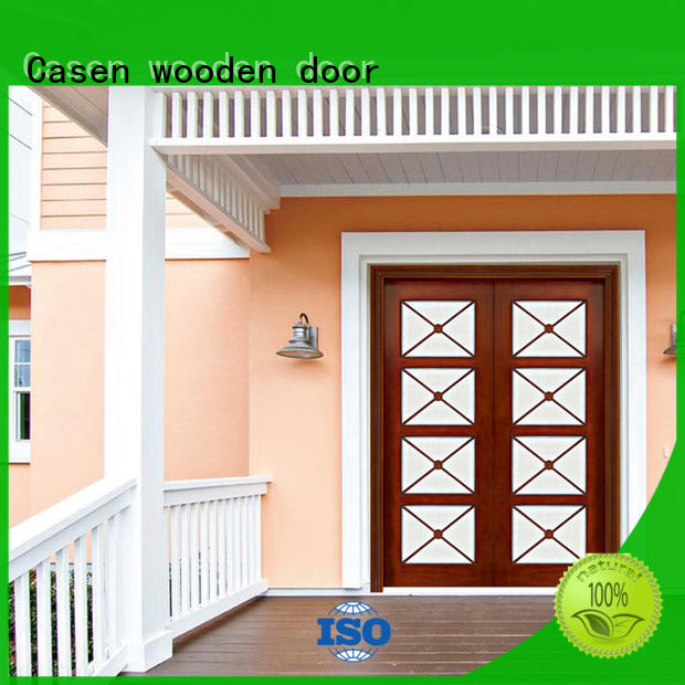 Casen Brand wooden villa front contemporary front doors