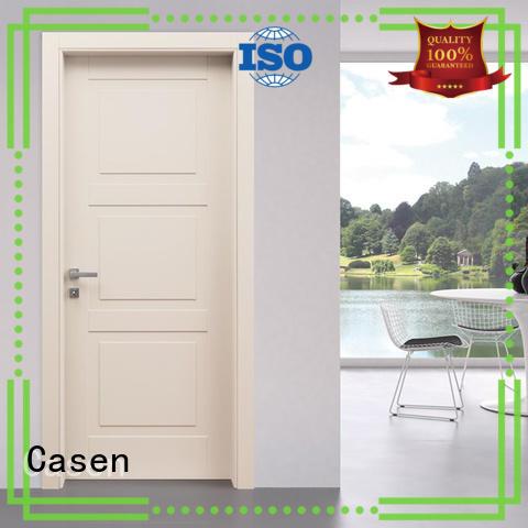 Casen light color composite wood door simple style
