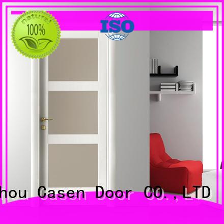 Casen modern half glass interior door easy for washroom