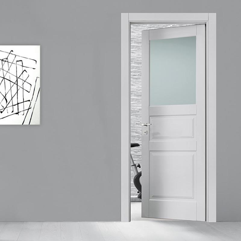 wooden bathroom doors glass aluminium for bedroom-3