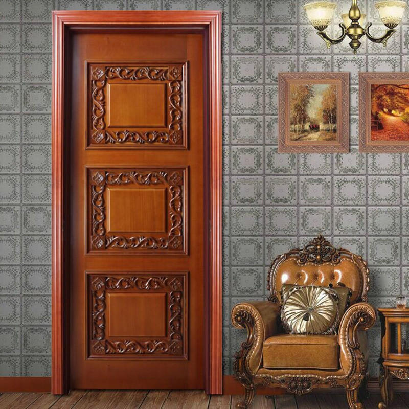 Casen white color solid wood interior doors fashion for store decoration-1