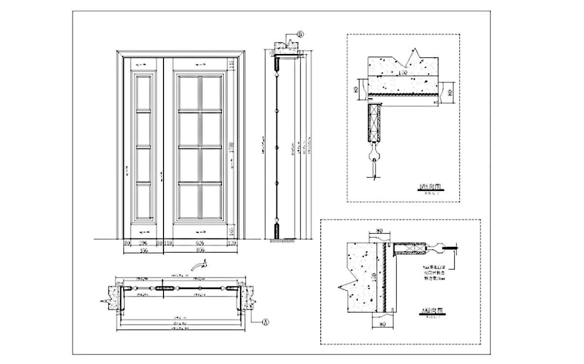 oak doors luxury design for house Casen-2