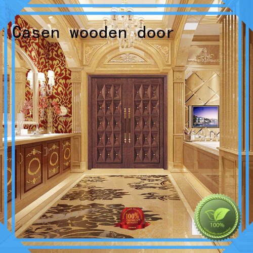 Casen iron modern entry doors archaistic style for store