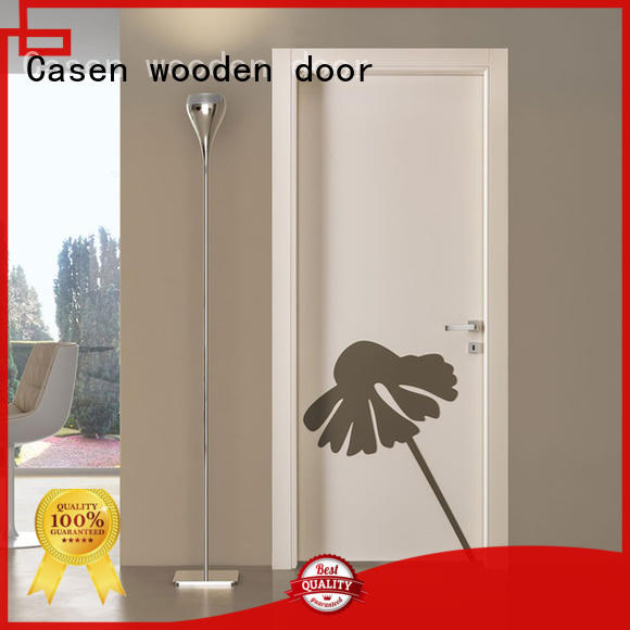 Casen cheapest factory price hdf doors new arrival for washroom