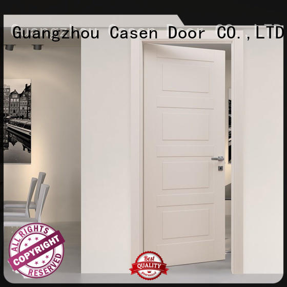 light color composite door white wood simple style for washroom