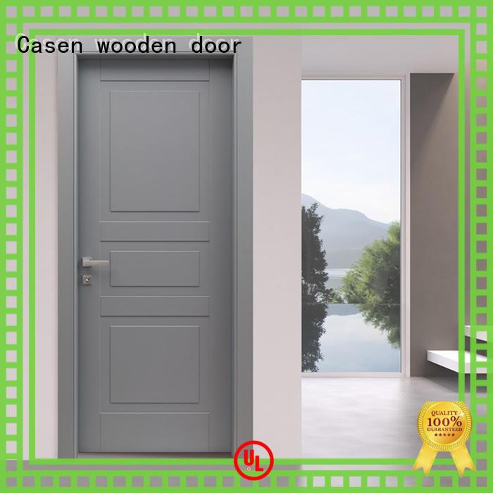 Casen light color composite wood door best design for bathroom
