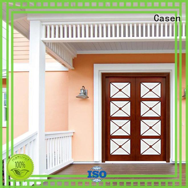 contemporary entry doors wooden villa Casen Brand company