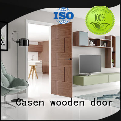 Casen high quality solid wood interior doors custom for washroom