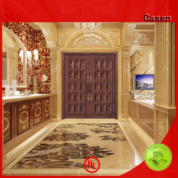Casen wooden contemporary front doors archaistic style for shop