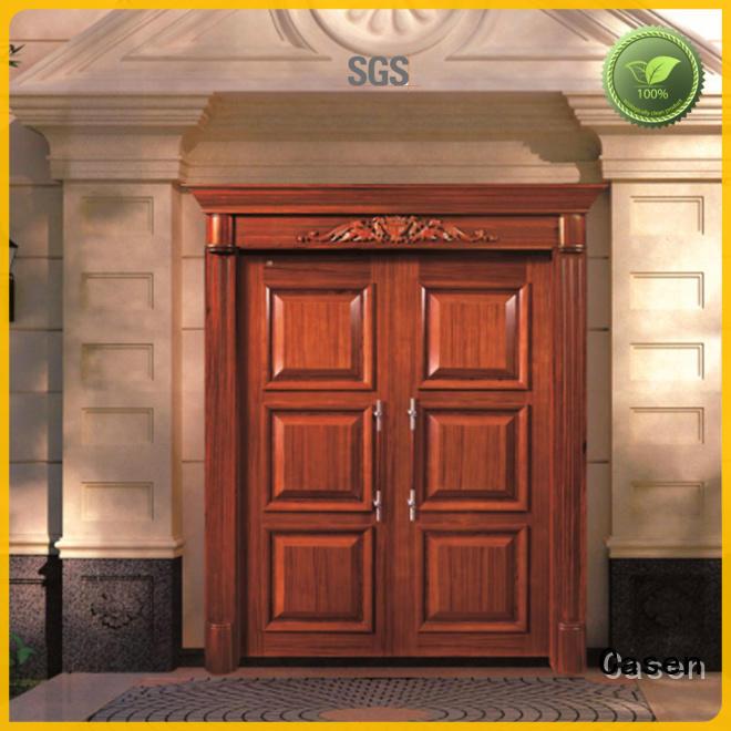 solid wood modern exterior doors antique for villa Casen