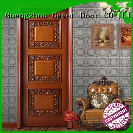 luxury internal doors carved flowers for living room Casen