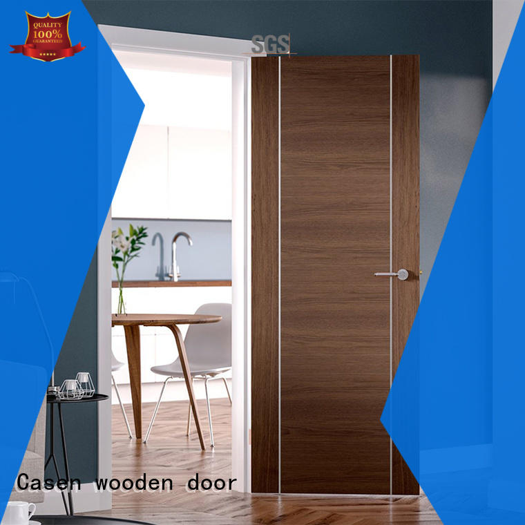 Casen classic natural wood door simple for washroom