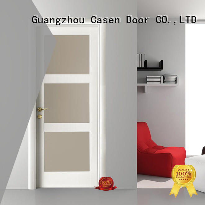 Modern Design With Glass White Color Wooden Door For Bedroom Use Js 4003a