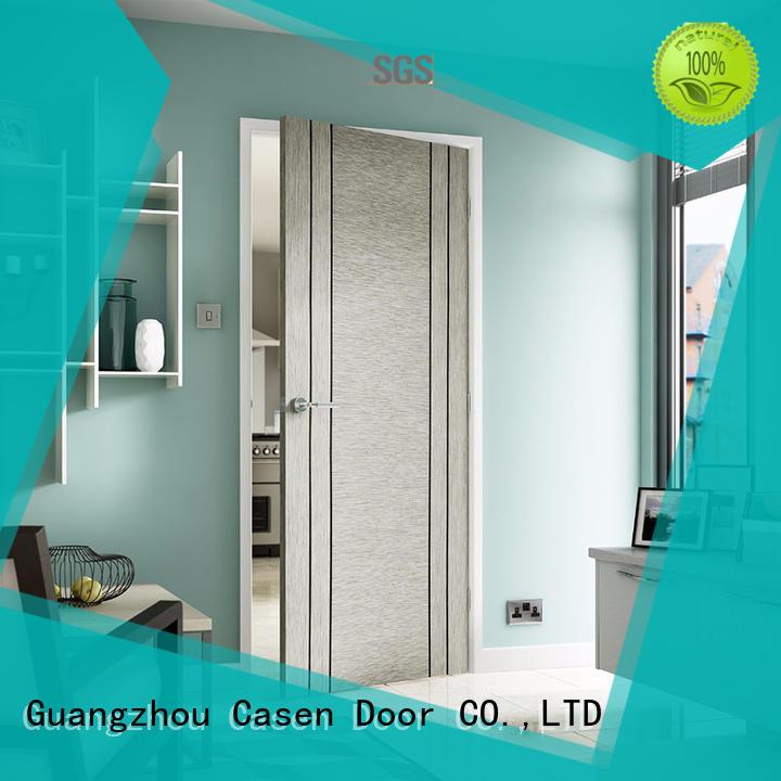 Casen chic modern solid wood door design for washroom