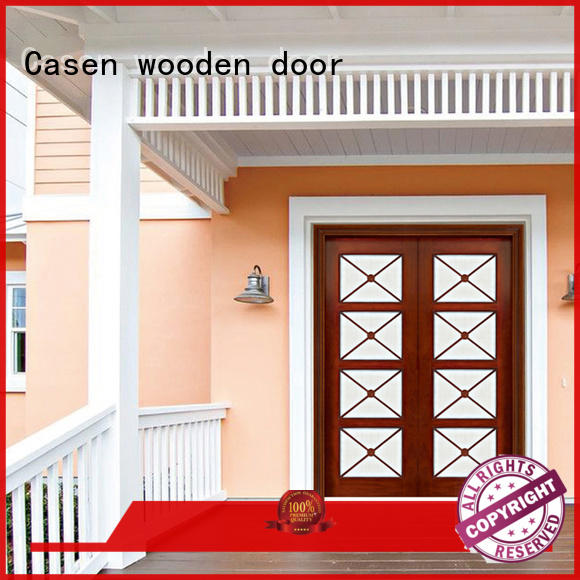 solid wood modern entry doors glass double carved for store