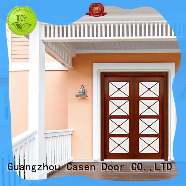 Casen main exterior wood doors front for shop
