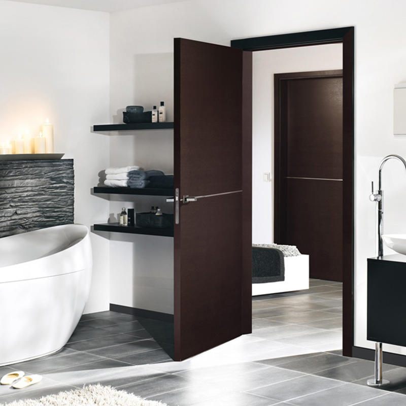 Casen ODM hardwood doors natural for washroom-2