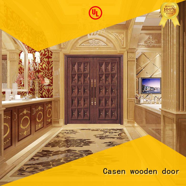 contemporary front doors wooden for villa Casen
