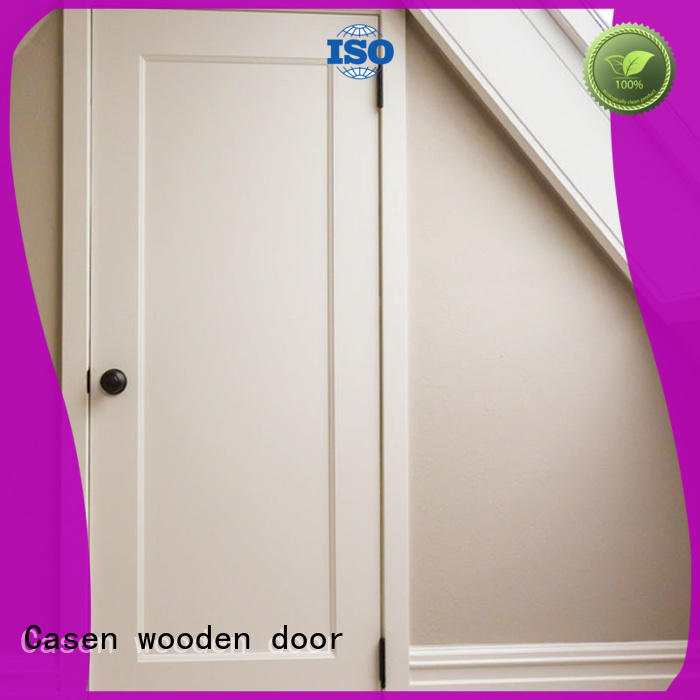 wood flat simple Casen Brand mdf doors supplier