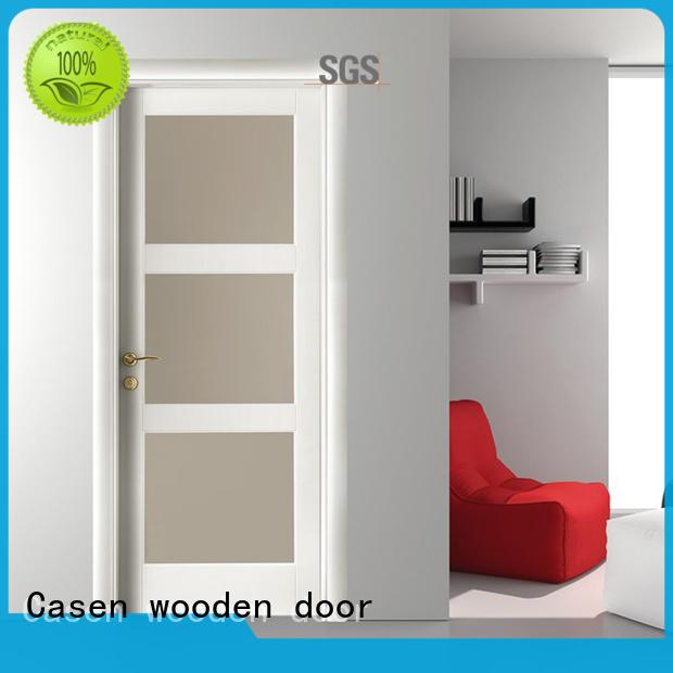 wood bathroom doors easy for washroom Casen