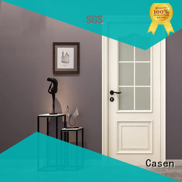 white color luxury wooden doors modern french design for store decoration