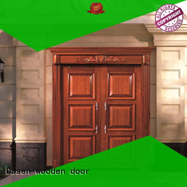 Casen beautiful oak doors double carved for store