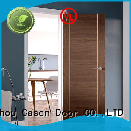 chic natural wood door at discount for washroom Casen