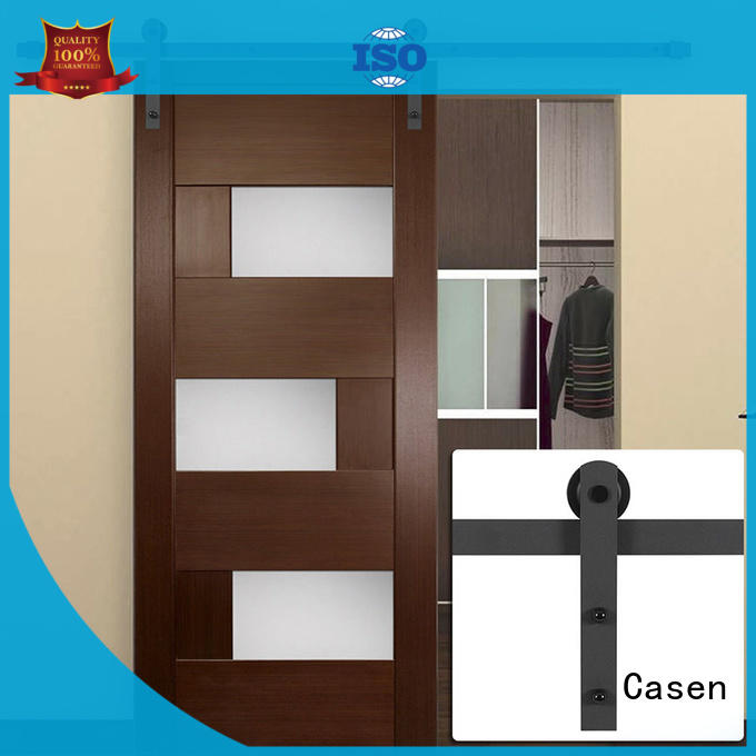 space mdf barn door glass for washroom Casen
