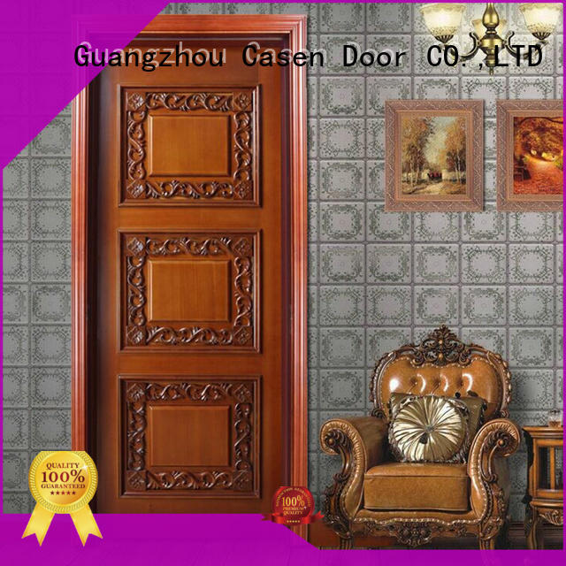 Casen wooden luxury wooden doors single for living room