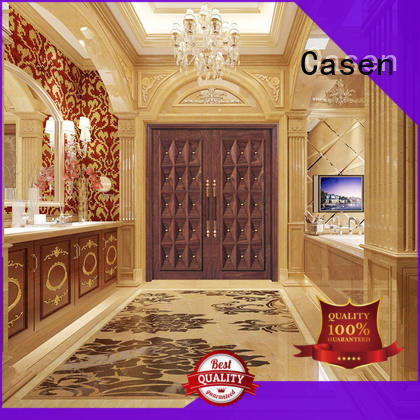 iron contemporary entry doors outside Casen company